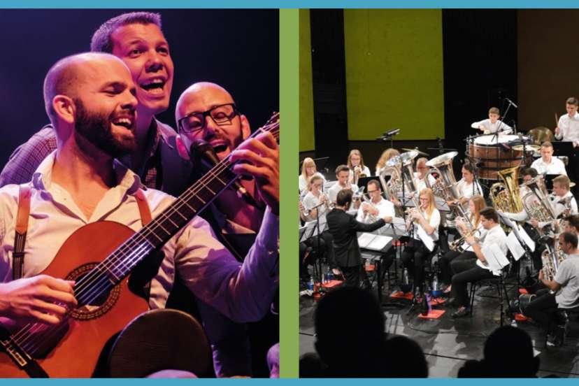 Vrijdag 17 september 2021 om 20u15 in de schouwburg:    Openingsconcert Academie met Los Del Trè en Brassband Willebroek